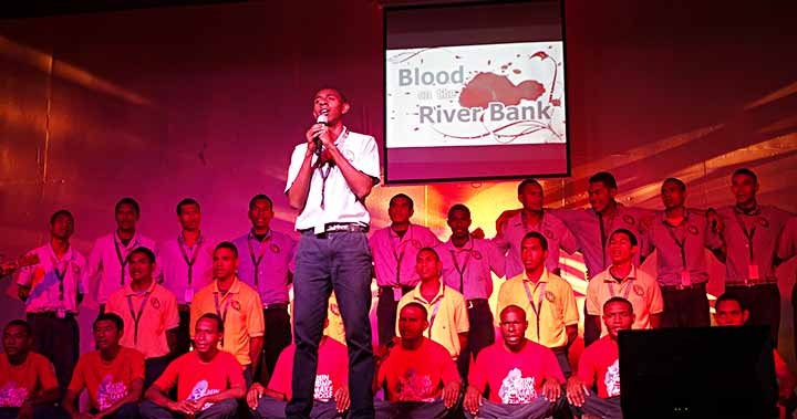 blood on the river bank